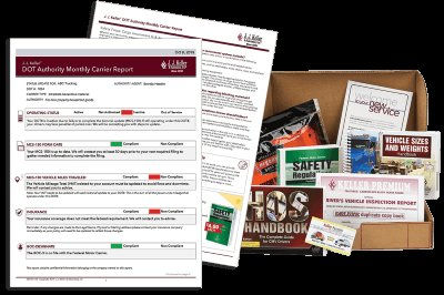 Service bundle of welcome kit and monthly carrier report.